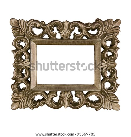 Golden volutes frame - stock photo