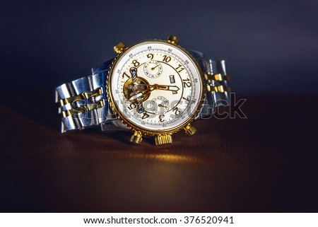 Golden Watch - stock photo