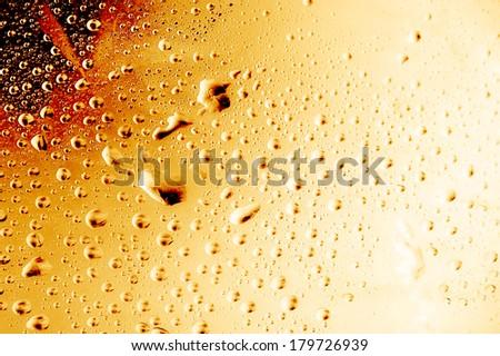 Golden waterdrops texture   - stock photo