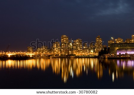 Golden waterfron of Yaletown, Vancouver - stock photo