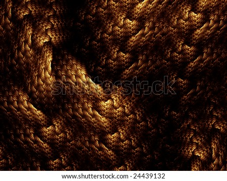 Golden woven fabric texture, abstract illustration - stock photo
