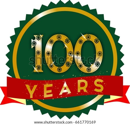 Isolated abstract gold 80th anniversary logo stock illustration golden 100 years logo with red ribbon and gold text on stopboris Choice Image