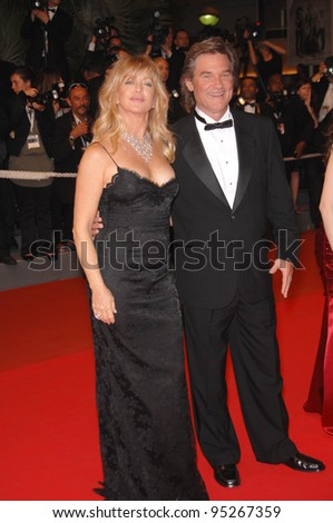 "Goldie Hawn & Kurt Russell at screening for ""Death Proof"" at the 60th Annual International Film Festival de Cannes. May 22, 2007  Cannes, France.  2007 Paul Smith / Featureflash"