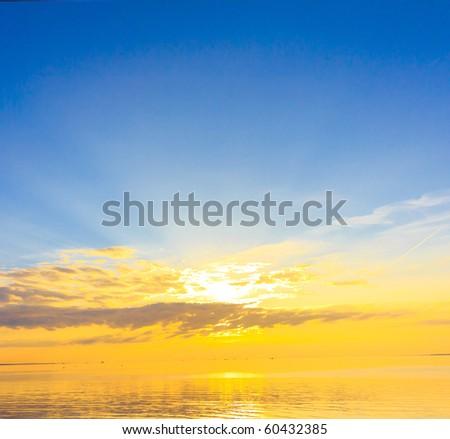 Golen Sunset Divine - stock photo