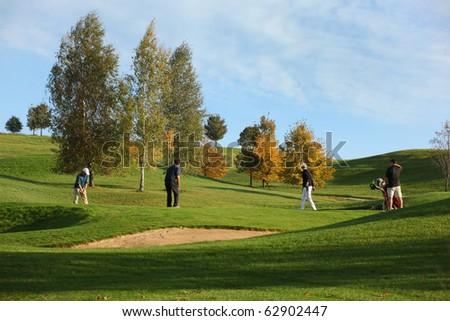 golf autumn - stock photo