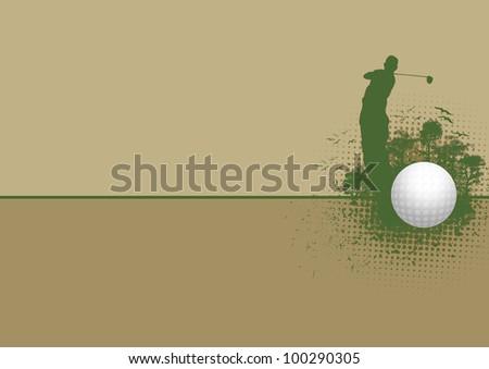 Golf background (poster, web, leaflet, magazine) - stock photo