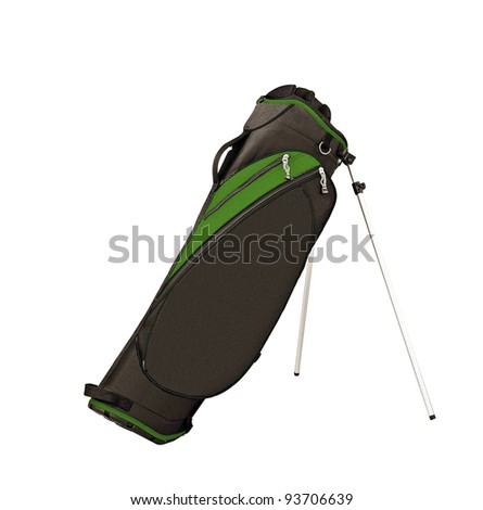 Golf bag isolated - stock photo