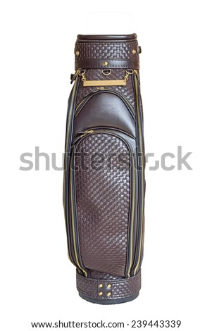 Golf bag isolated on a white background - stock photo