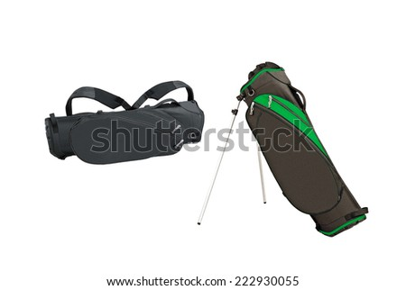 Golf bags - stock photo
