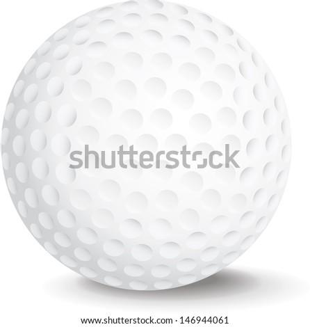 Golf Ball bitmap copy - stock photo