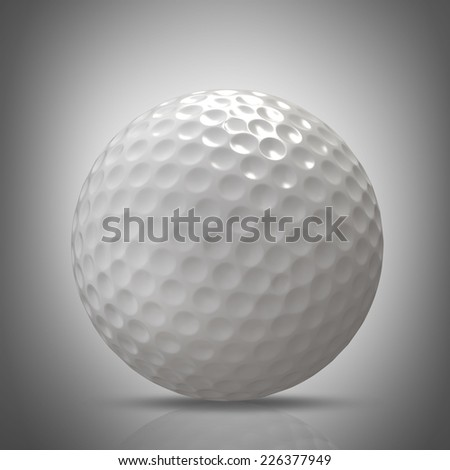golf ball. High resolution 3d - stock photo