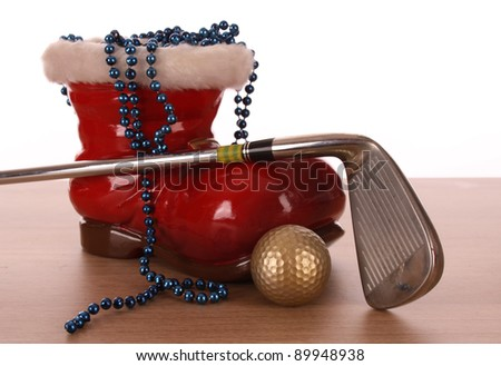 GOLF BALL IN A STUDIO SETTING - stock photo