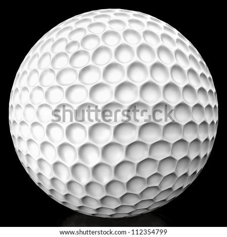 Golf ball isolated - stock photo