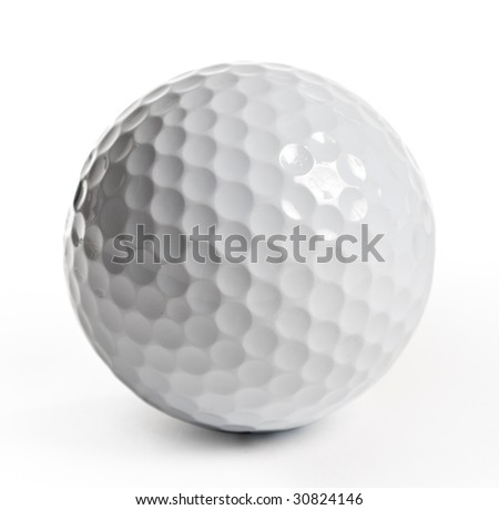 Golf ball isolated - stock photo