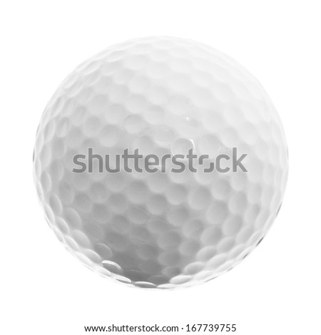 Golf ball isolated on the white background - stock photo