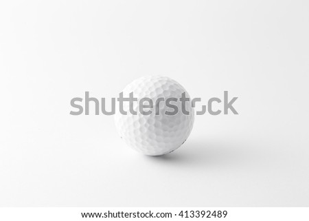 Golf ball isolated on white  - stock photo