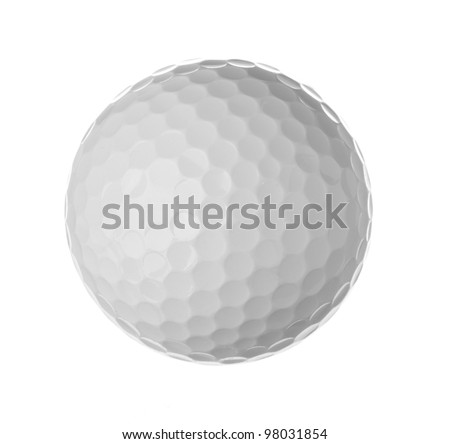 Golf ball, isolated on white