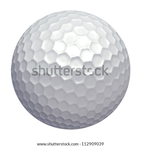 Golf ball - isolated on white background - stock photo