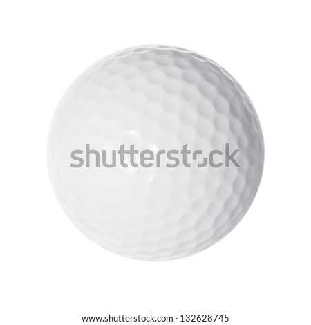 Golf ball, isolated on white background - stock photo