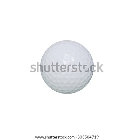 Golf ball isolated on white background with clipping path.