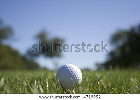 Golf Ball - Landscape Orientation (see 4719955 for Portrait Orientation) - stock photo