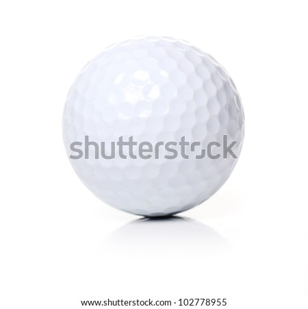 Golf ball over white background - stock photo
