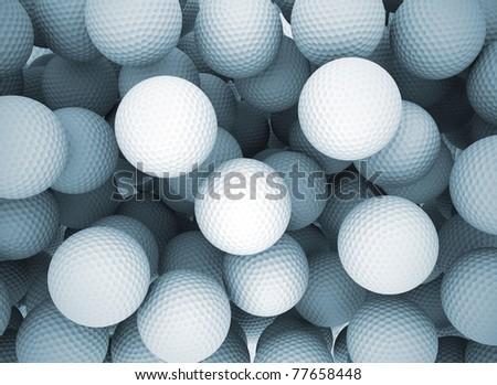 Golf balls background - stock photo