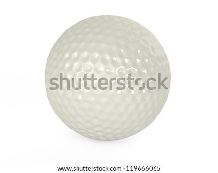 golf balls isolated 3d illustration - stock photo