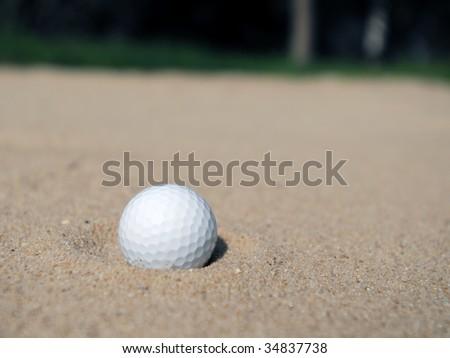 Golf Bunker - stock photo