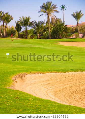 Golf bunkers - stock photo