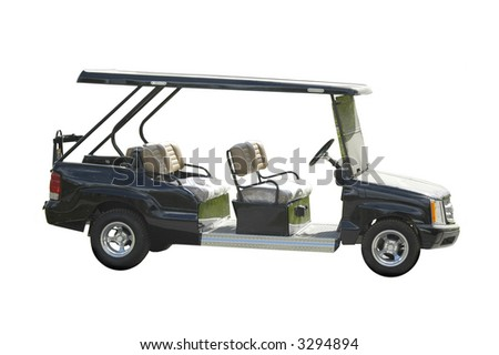 golf car for servicing - stock photo