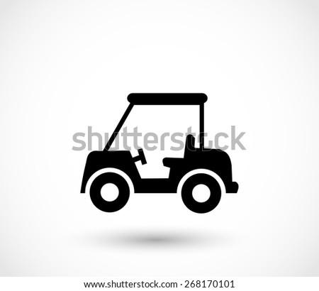 Golf car icon - stock photo