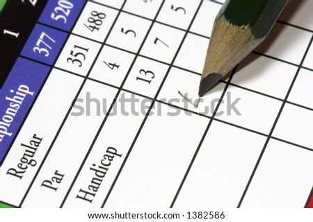 golf card - stock photo