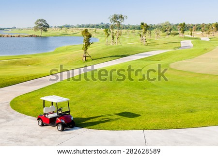 Golf Cart in Golf Club