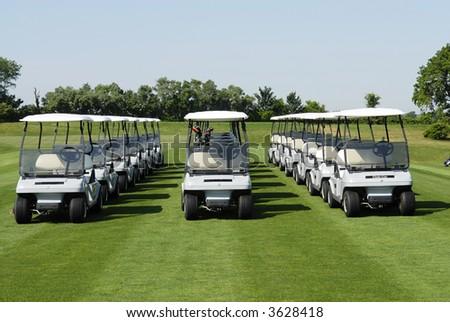 golf carts - stock photo