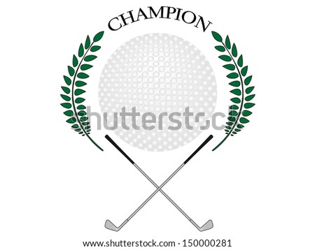 Golf Champion 1 - stock photo