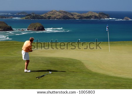 Golf - chip - stock photo