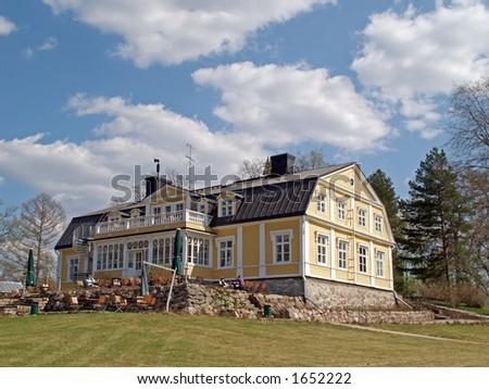 Golf club hotel and cafeteria near Helsinki - stock photo