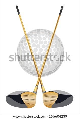 golf club icon - stock photo
