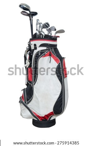 golf club isolated on the white background. - stock photo