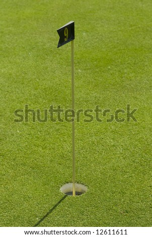 Golf club view of putting green - sport