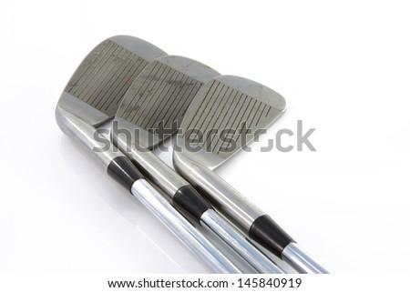 golf clubs - stock photo