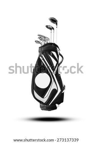 Golf clubs and Bag - stock photo