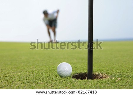 golf concentration - stock photo