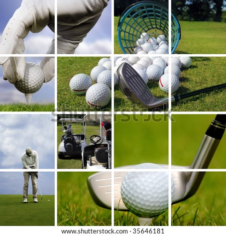 Golf concept - stock photo