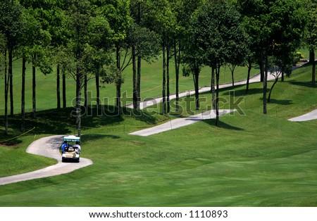 Golf course 3 - stock photo