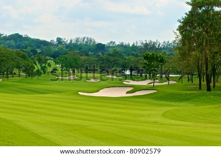golf course - stock photo