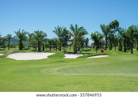 Golf Course at day time at thailand