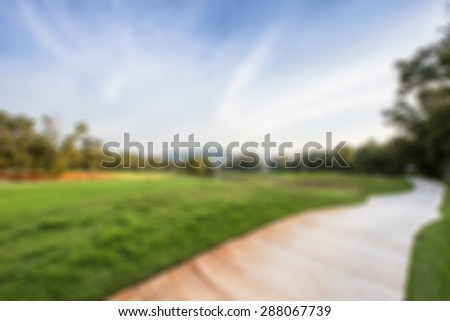 golf course blurred background - stock photo