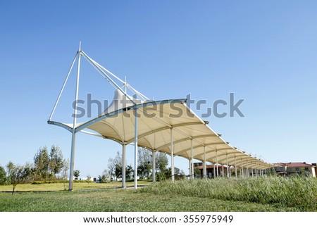 Golf course construction - stock photo